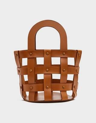 Building Block Woven Basket in Chestnut