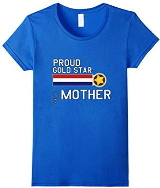 Womens GOLD STAR Mother T-Shirt (Proud Military Family)