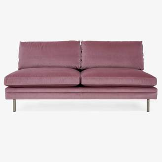 highLine Lorimer Velvet Armless Loveseat