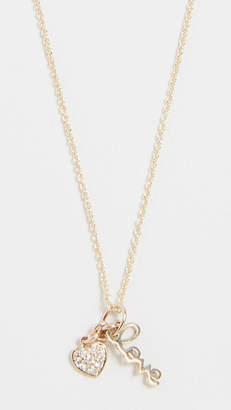 Sydney Evan 14k Gold Love Charm Necklace