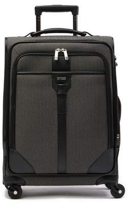 "Hartmann Herringbone Leather Trimmed 20"" Carry-On Expandable Spinner"