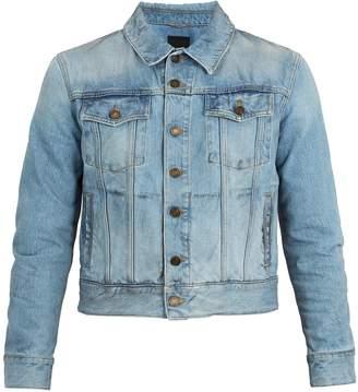 Saint Laurent Grease-effect denim jacket