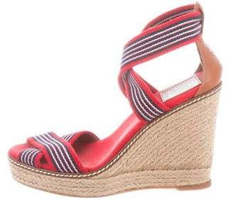 Tory Burch Crossover Strap Wedge Sandals