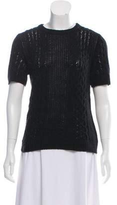 Theory Short Sleeve Knit Sweater