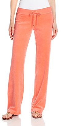 Juicy Couture Black Label Women's Logo Velour Filagree Crown Original Pant $158 thestylecure.com
