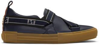 Fendi Navy Forever Slip-On Sneakers