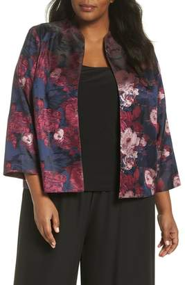 cd64599e9d4 Alex Evenings Print Jacquard Twinset (Plus Size)