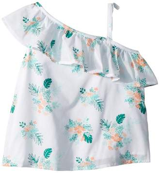 Janie and Jack One Shoulder Bow Sleeve Top Girl's Clothing