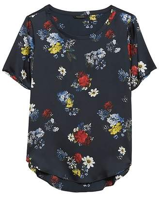 Banana Republic Patrizia Floral High-Low Hem Top
