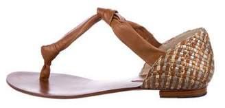 Alexandre Birman Woven Thong Sandals