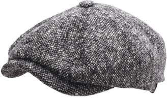 Stetson Men's Hatteras Donegal WV Newsboy Cap Size M Black-white-433
