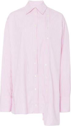 Rokh Slash Oversized Button-Up Shirt