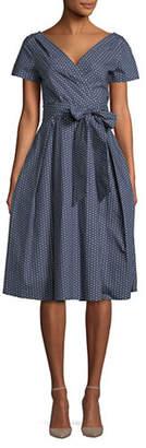 Max Mara Amaca Printed Wrap Dress