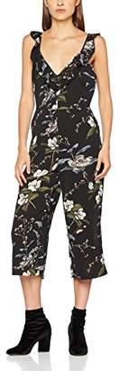 New Look Women's 5504314 Jumpsuit, (Black Pattern)