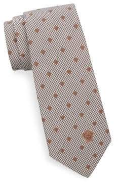 Versace Houndstooth and Polka Dots Silk Tie