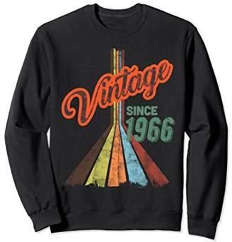 52 Birthday Sweatshirt Pullover Vintage 1966 Birthday Gift