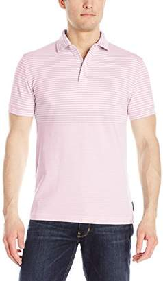 French Connection Men's Short Sleeve Stripe Slim Fit Polo Shirt