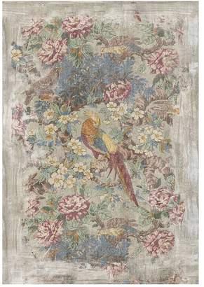 Pottery Barn Floral Bird Wall Art
