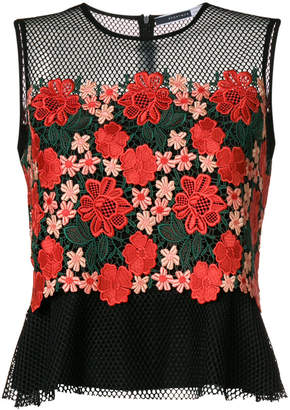 Sportmax Code embroidered floral tank top
