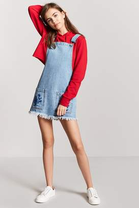 Forever 21 Embroidered Overall Dress