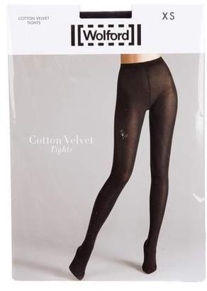 Cheap Reliable Wolford Cotton Velvet Tights Cheap Price Store Outlet Amazing Price Tsvjymiyq