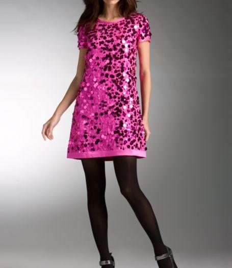 Tee Shirt Dress W/ Charmeuse Hem