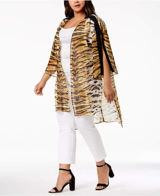 NY Collection Plus Size High-Low Kimono