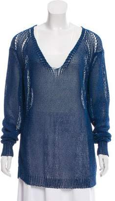 Cacharel Crocheted V-Neck Sweater w/ Tags