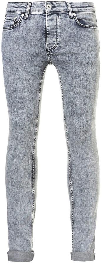 Topman Snow Wash Spray On Skinny Jeans