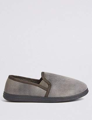 """Marks and Spencer Micro Check Slippers with Freshfeetâ""""¢"""
