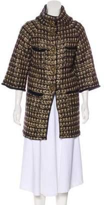 Chanel Paris-Byzance Metallic Coat