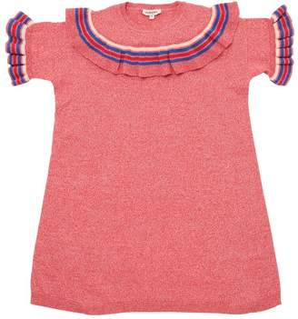 Ruffled Cotton Knit Dress