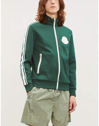 Moncler Logo-patch stretch-jersey jacket