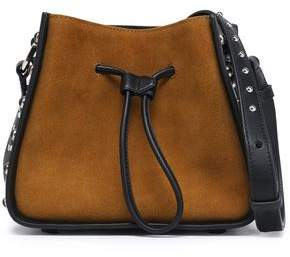 3.1 Phillip Lim Studded Leather And Suede Bucket Bag