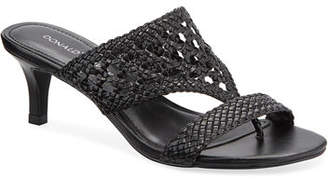 Donald J Pliner Kikki Woven Leather Slide Sandals