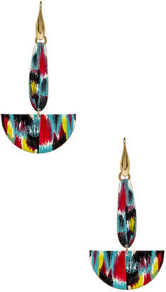Isabel Marant Half Moon Drop Earrings in Multicolor | FWRD
