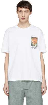 Kenzo White Jungle Tiger Memento T-Shirt