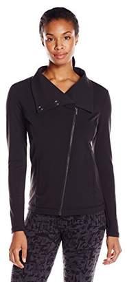 Lucy Women's Hatha Asymmetrical Zip Stripe Jacket $128 thestylecure.com