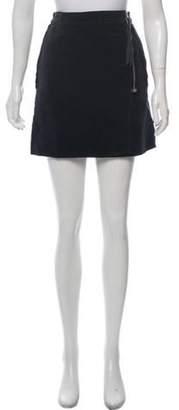Maison Margiela Velvet Mini Skirt silver Velvet Mini Skirt