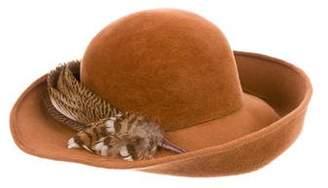 Hermes Feather-Trimmed Felt Hat