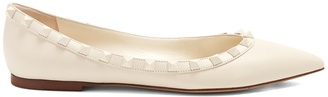 VALENTINO Rockstud leather flats $795 thestylecure.com