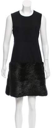 Marni Wool Fur-Trimmed Dress