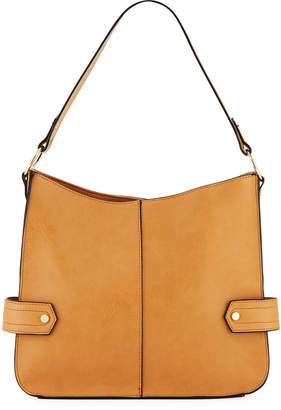 c09f8d3365 Neiman Marcus City Faux-Leather Hobo Bag