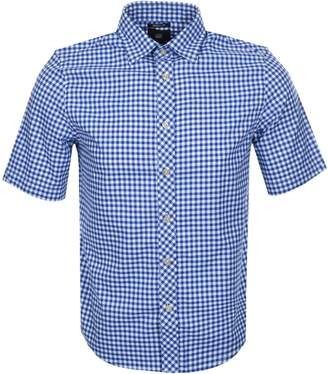 G Star Raw Gingham Bristum Shirt Blue