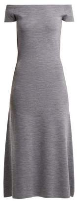 Gabriela Hearst Larrington Wool And Cashmere Blend Dress - Womens - Grey