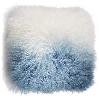 "Eightmood Fuyu Dip-Dyed Fur Decorative Pillow, 16"" x 16"""