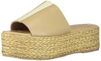 Kaanas Women's ALANYA Espadrille Woven Straw Platform Wedge Opentoe Slide Sandal Shoe Heeled