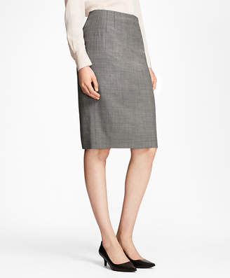 Brooks Brothers Sharkskin Stretch Wool Pencil Skirt