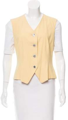 Akris Wool & Silk Button-Up Vest
