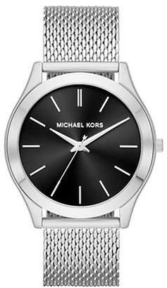 Michael Kors Slim Runway Stainless Steel Mesh Bracelet Watch